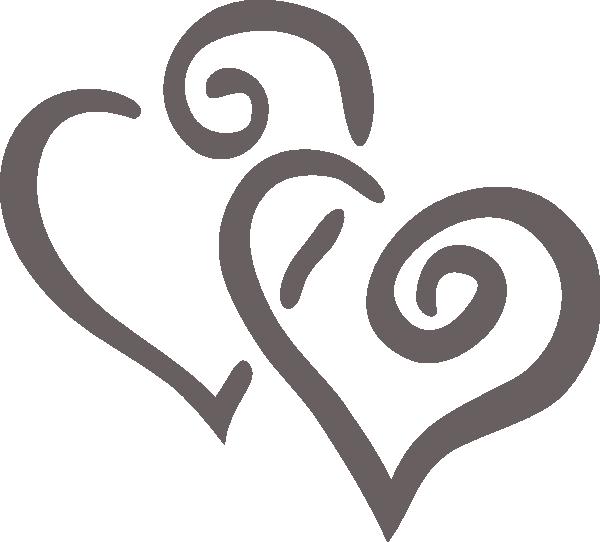 Wedding heart clipart free svg free Big Purple Hearts Clip Art at Clker.com - vector clip art online ... svg free