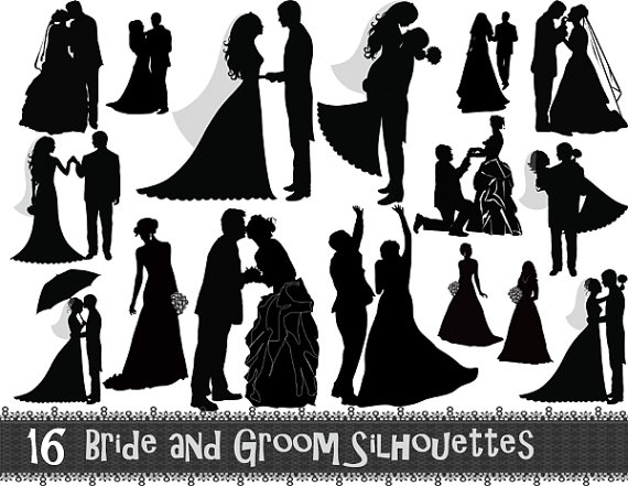 Wedding clipart instant download picture freeuse library 78+ Wedding Silhouette Clip Art | ClipartLook picture freeuse library