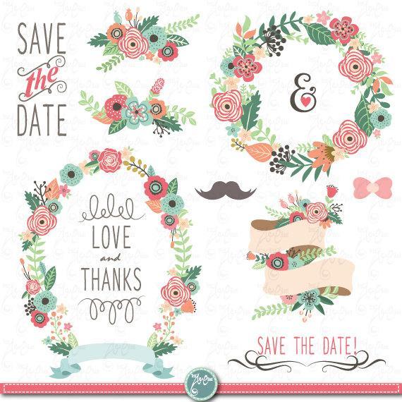 Wedding clipart instant download jpg royalty free download Wedding Clipart Pack \