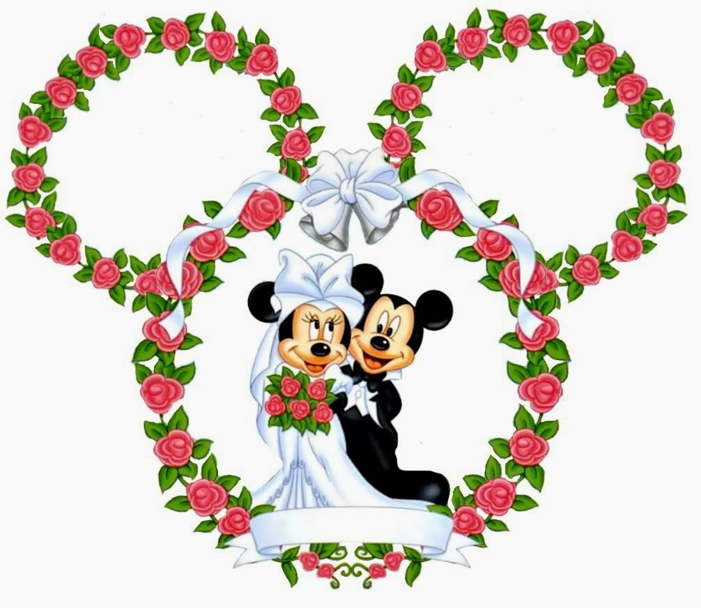 Wedding clipart minnie and mickey free vector black and white download Minnie and Mickey Wedding Free Printables. - Oh My Fiesta ... vector black and white download