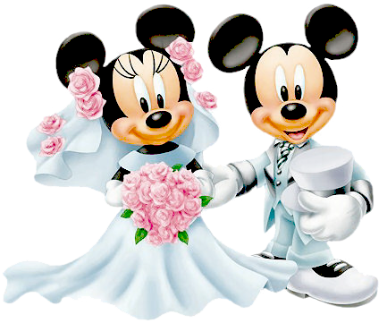 Wedding clipart minnie and mickey free png black and white download Bride Groom Minnie Mickey … | LOVE DISNEY | Disne… png black and white download