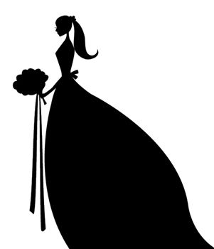 Wedding clipart silhouette image free download bride clipart | silhouette | Bride silhouette, Wedding ... image free download