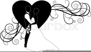 Wedding clipart silhouette picture royalty free Bride Groom Silhouette Wedding Clipart | Free Images at ... picture royalty free