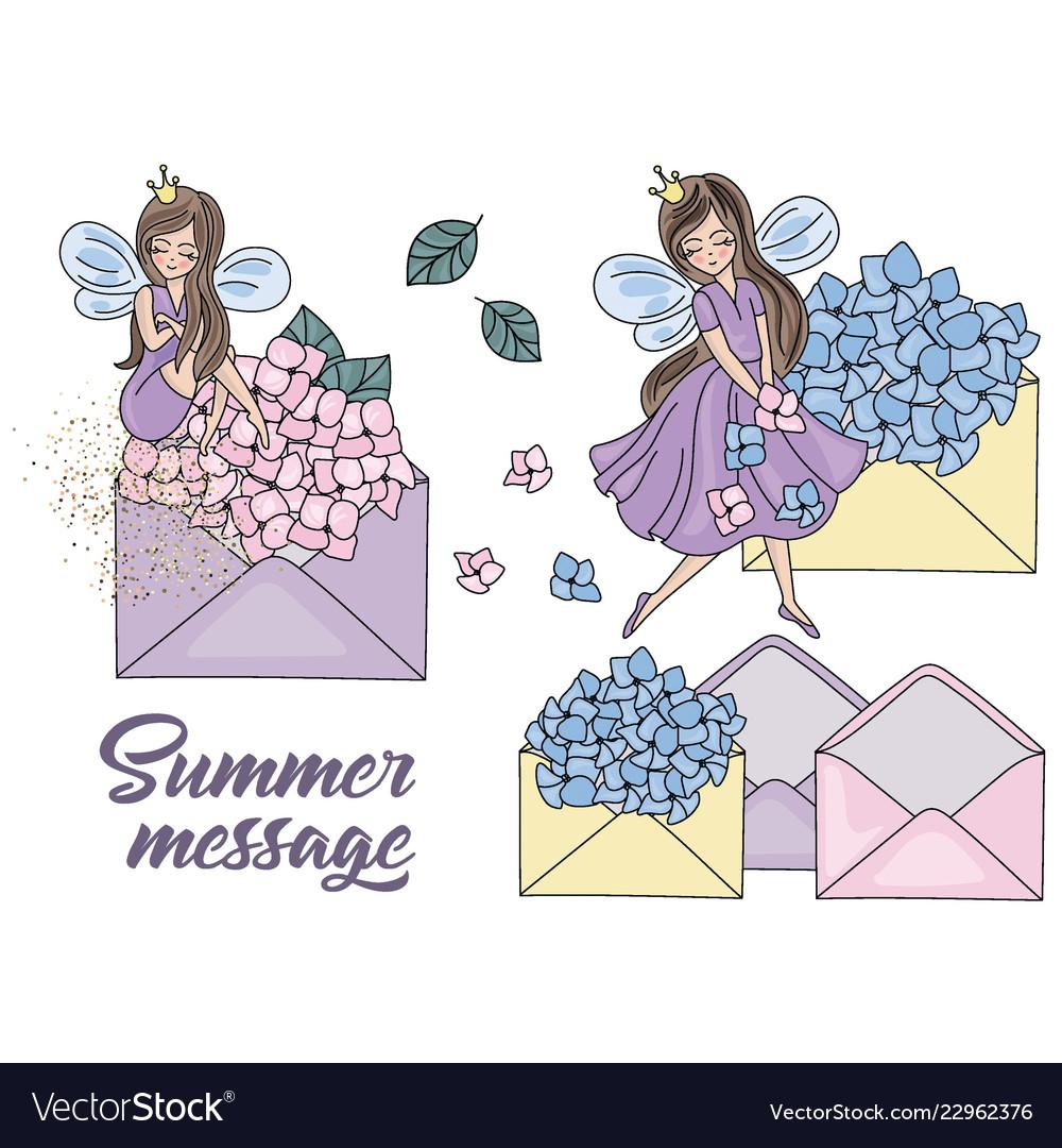 Wedding clipart vector stock Summer message cartoon wedding clipart stock