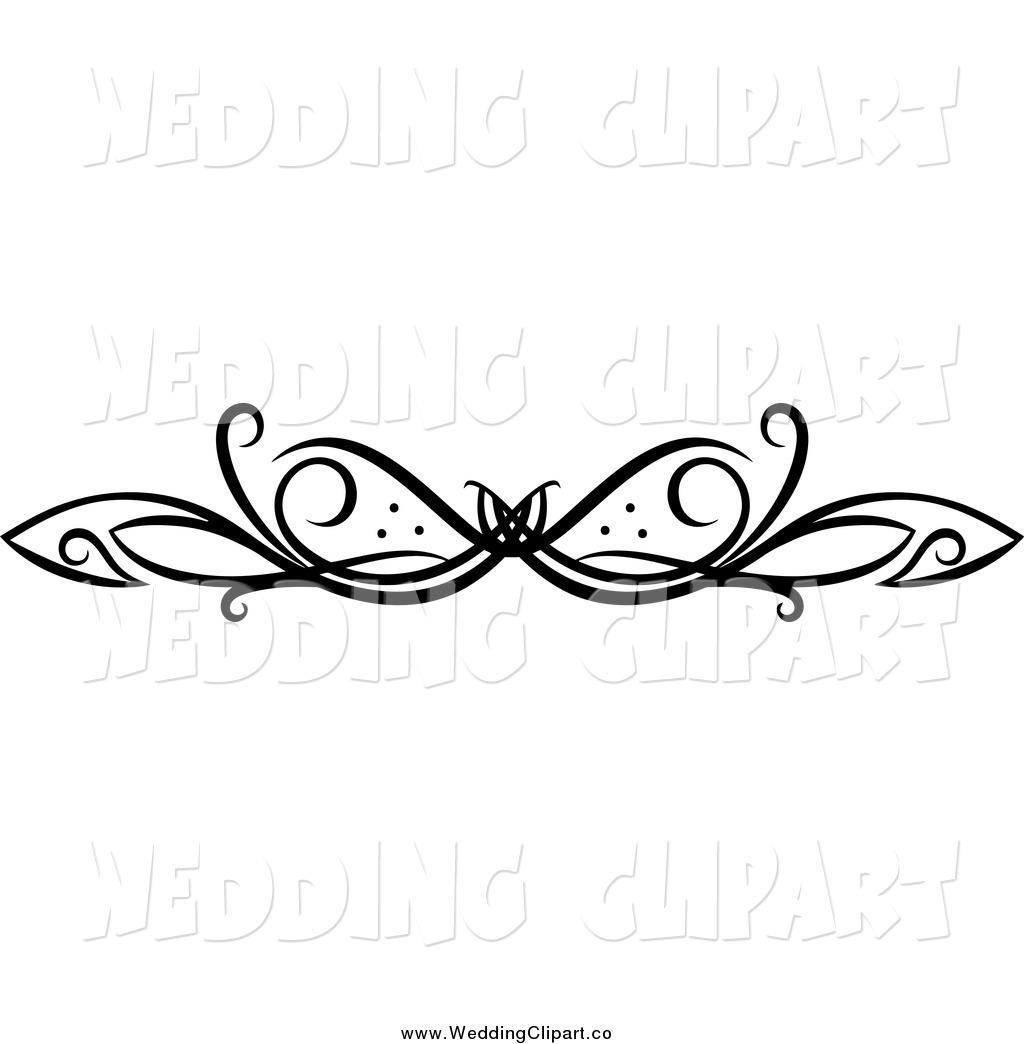 Wedding black and white. Free scroll flourish clipart