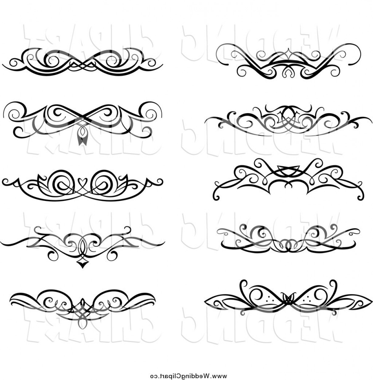 Wedding clipart vector images vector freeuse library Vector Marriage Clipart Of Black And White Swirl Wedding ... vector freeuse library