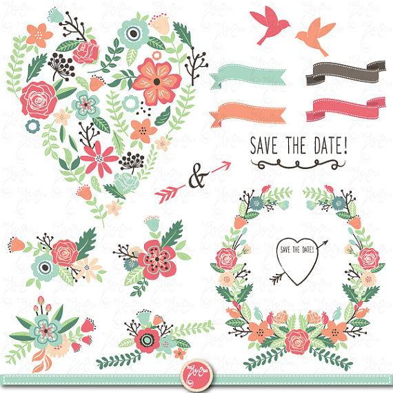 Wedding clipart vintage image freeuse library Wedding Clipart Pack \