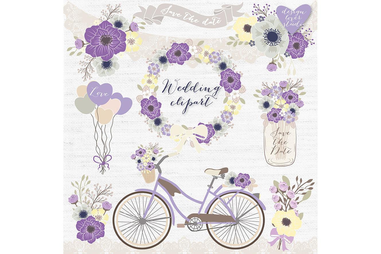 Wedding clipart violet