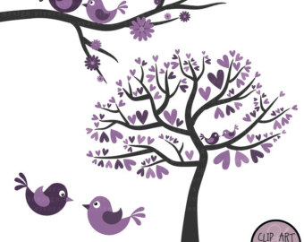Wedding clipart violet clipart free library Purple Birds Wedding Clipart - Clip Art Library clipart free library