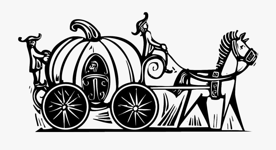 Wedding coach black and white clipart png free stock Cinderella Pumpkin Carriage Clipart Black And White ... png free stock