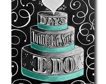 Wedding countdown clipart