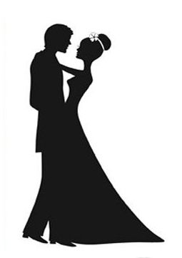 Wedding couple elegant clipart clipart transparent download Wedding+Couple+Silhouette | Looking for this design ... clipart transparent download