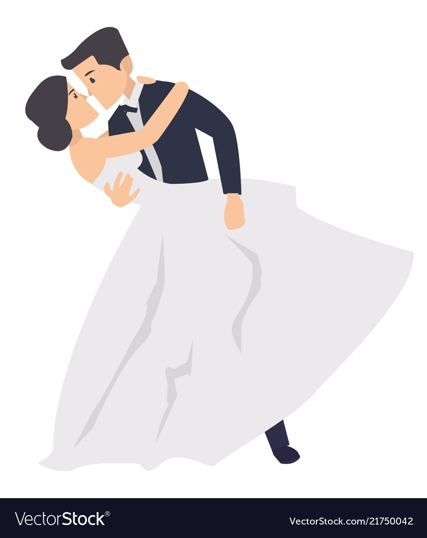 Wedding couple dancing clipart clipart transparent A just married couple dancing in the wedding clipart transparent