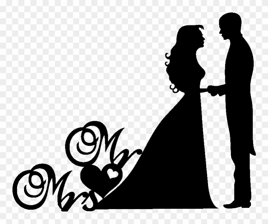 Wedding couple silhouette clipart png picture stock Wedding Couple Clipart Png , Png Download - Mr & Mrs ... picture stock