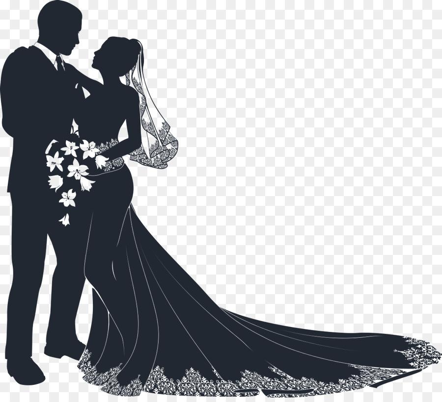 Wedding couple images clipart jpg stock Wedding Couple Silhouette clipart - Wedding, Bride, Marriage ... jpg stock