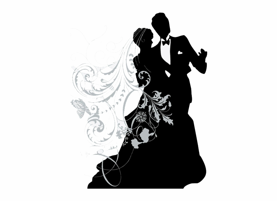 Wedding couple silhouette clipart png clip free Kickin Country - Wedding Couple Silhouette Png Free PNG ... clip free