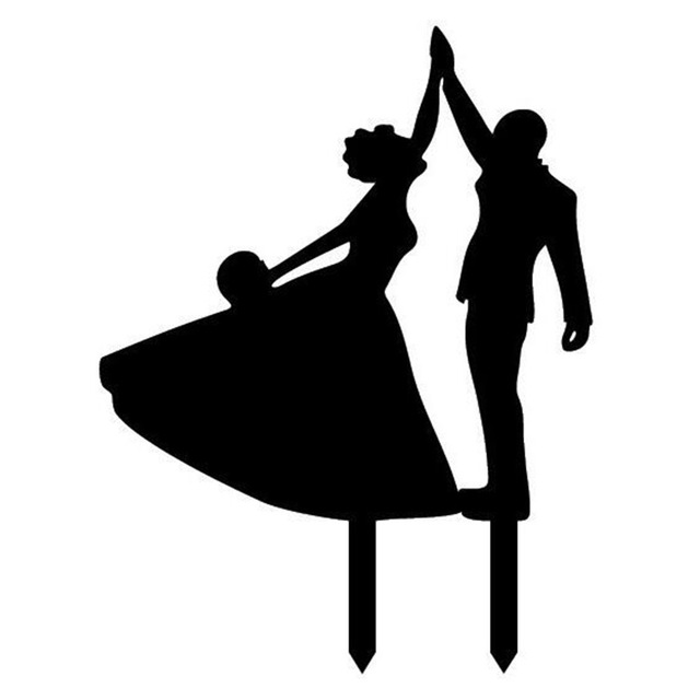 Wedding dancing group clipart image US $3.85 |Creative Companion Dancing Acrylic Romantic Wedding Cake Topper  Decoration Wedding Event Party Supplies Mariage Party Favors-in Cake ... image