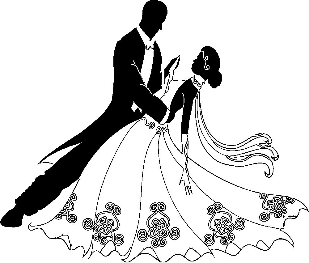 Wedding dancing group clipart clipart black and white library Collection of 14 free Dancing clipart first dance aztec ... clipart black and white library