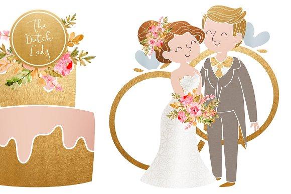 Wedding day clipart jpg library stock Wedding Day & Marriage Clipart Set jpg library stock