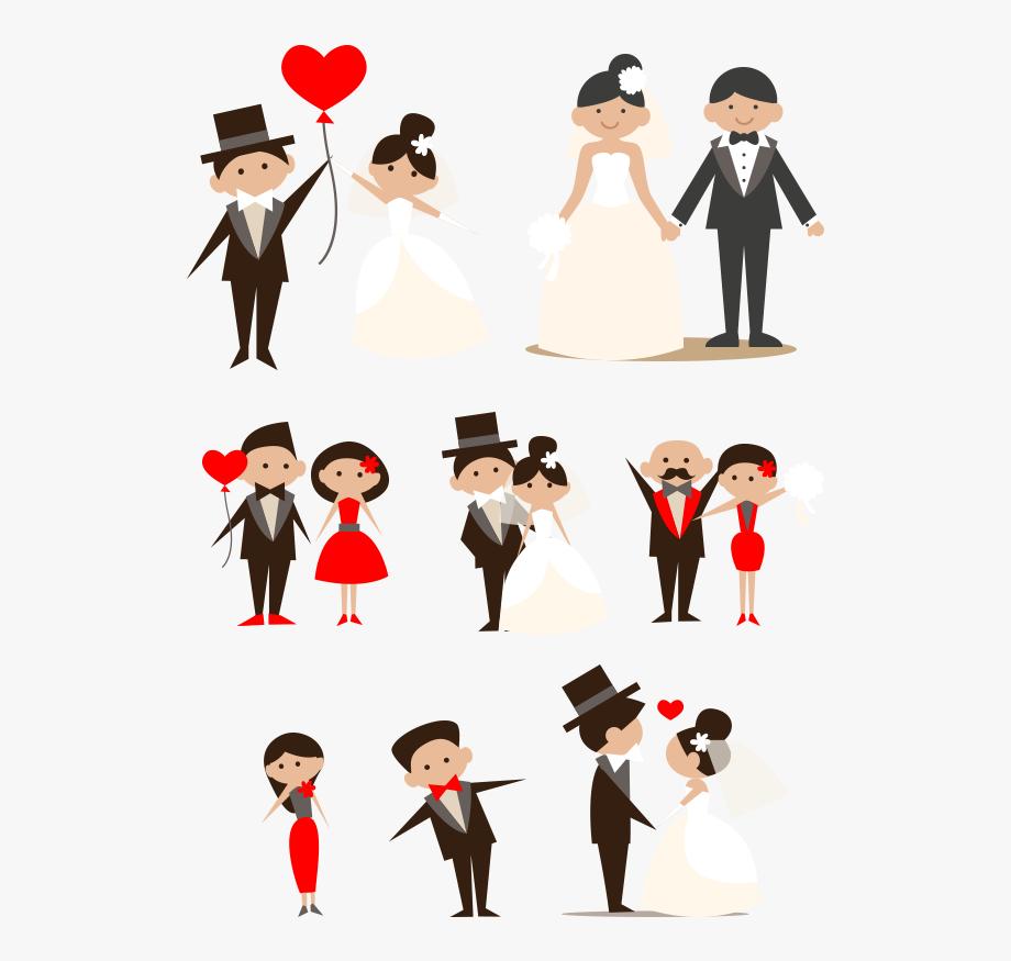 Wedding day clipart banner freeuse library Cartoon Couple Clip Art Hand Drawn Bride - Wedding Day Clip ... banner freeuse library