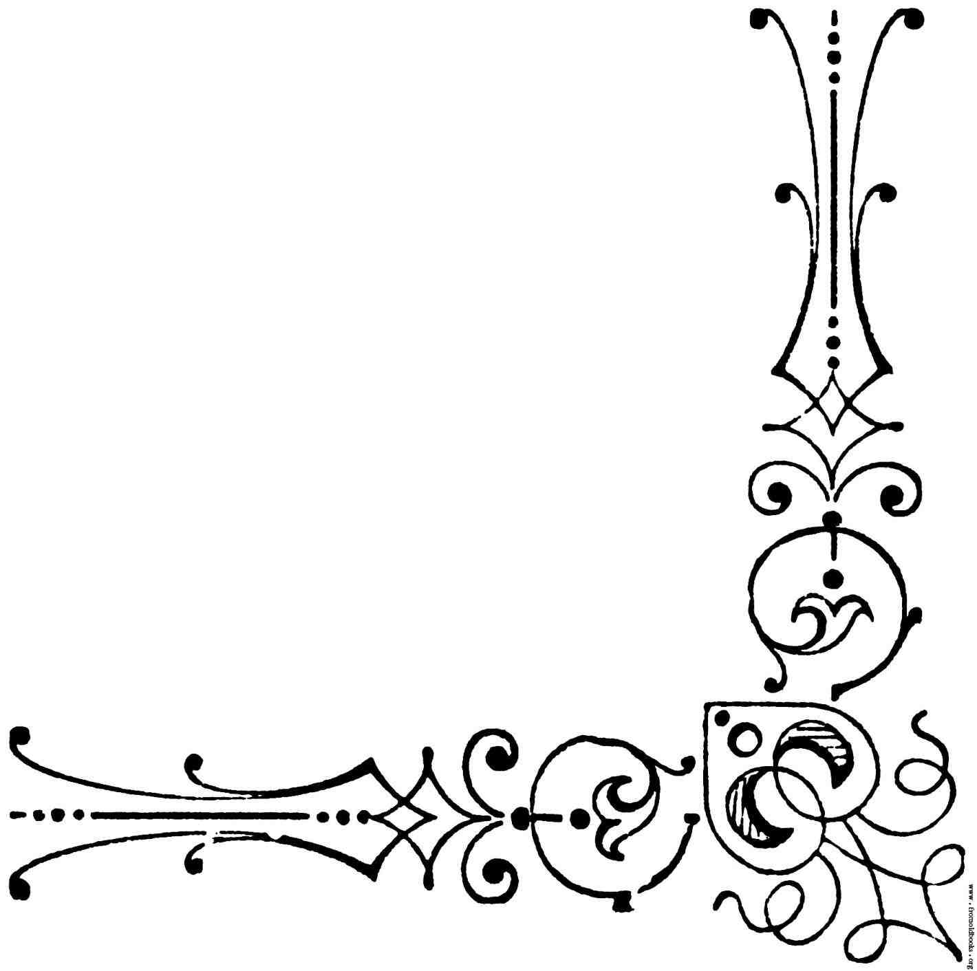 Wedding design clipart free download image black and white download Free Stationary Borders Clipart   Free download best Free ... image black and white download