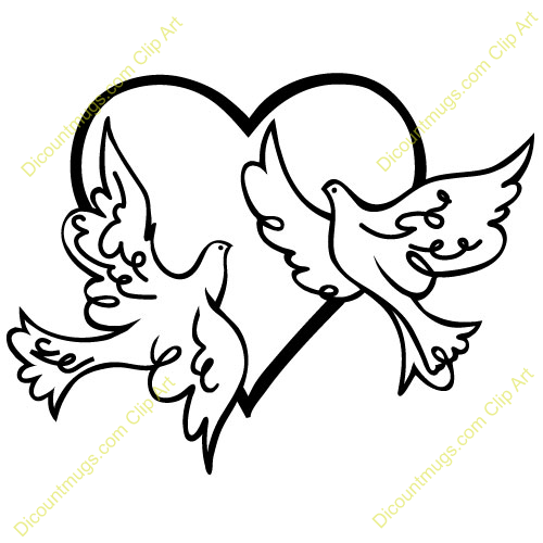Wedding doves clipart free picture transparent library Wedding Doves Clip Art Bed Mattress Sale - Free Clipart picture transparent library