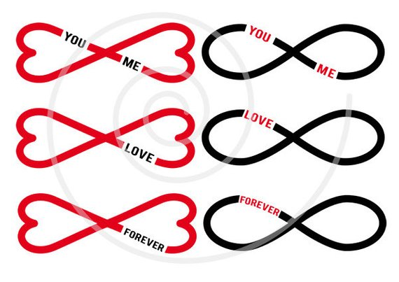 Wedding endding clipart transparent library 15 hearts clip art with infinity sign, never ending love ... transparent library