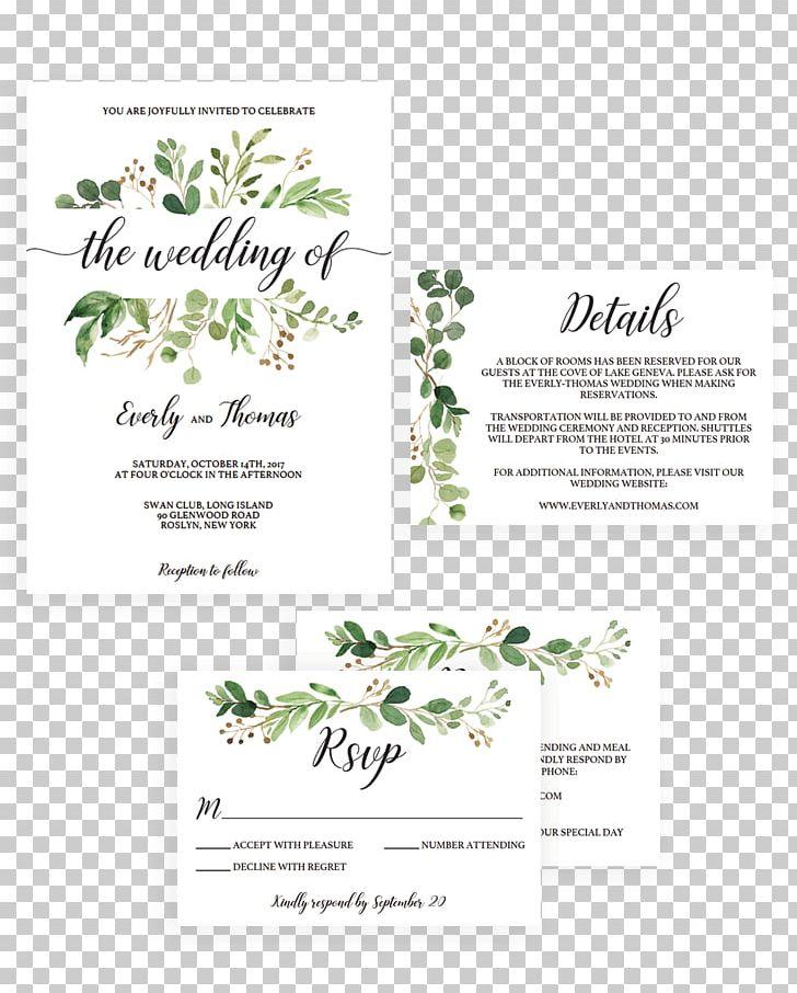 Wedding endding clipart clip black and white download Wedding Invitation Green Wedding Watercolor Painting Convite ... clip black and white download