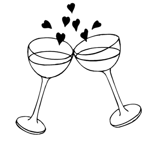 Wedding reception clipart clip art library stock Clip Art Black And White Engagement Clipart - Clipart Kid ... clip art library stock