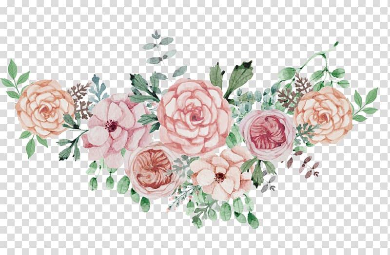 Wedding floral design clipart download Poster Wedding Flower, Watercolor flowers flower cluster ... download