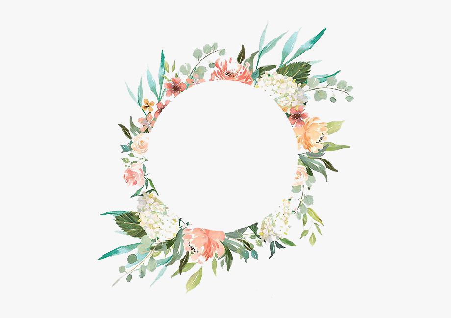 Wedding flowers circle clipart picture transparent library Watercolor Wreath With Flowers Png Peoplepng - Wedding ... picture transparent library