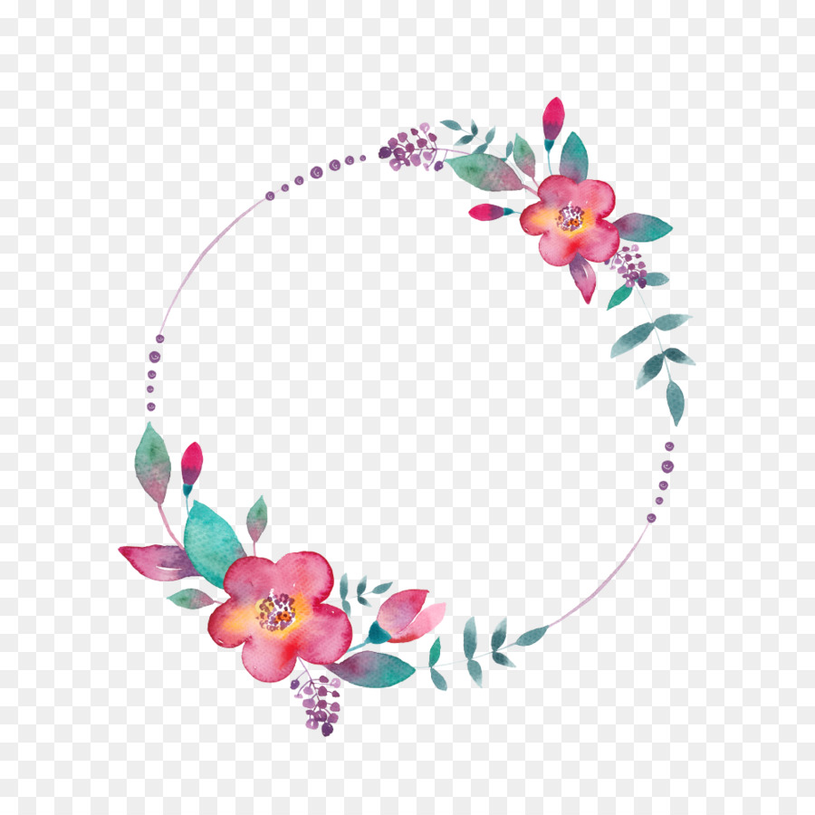 Wedding flowers circle clipart clip art library download Wedding Watercolor Floral clipart - Wedding, Pink, Flower ... clip art library download