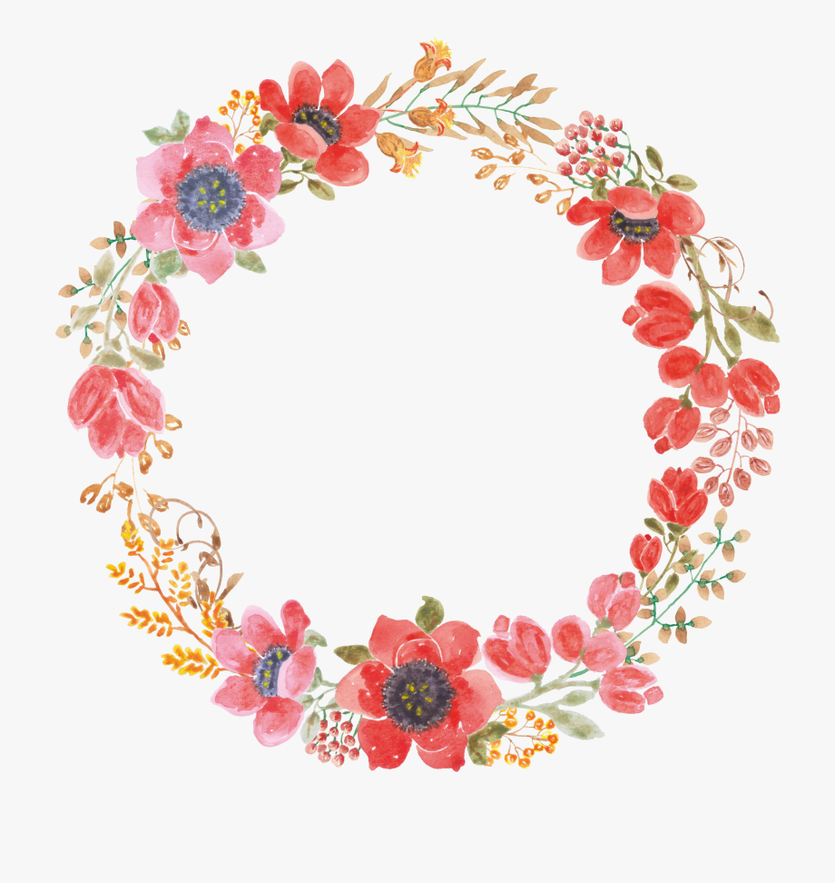Wedding flowers circle clipart png Wedding Invitation Paper Wreath Flower Garland - Flower ... png
