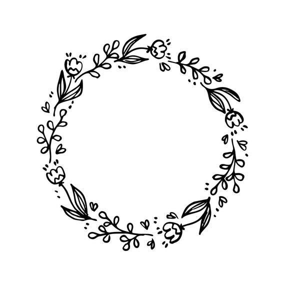 Wedding flowers circle clipart image freeuse wedding vintage flowers frame circle Graphics SVG Dxf EPS ... image freeuse
