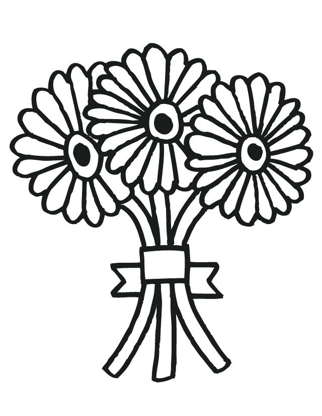 Wedding flowers clipart coloring image free stock Collection of Flower bouquet clipart | Free download best ... image free stock