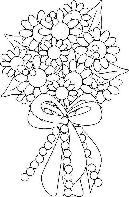 Wedding flowers clipart coloring picture black and white download Wedding Flowers Coloring Pages picture black and white download