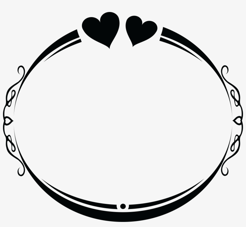 Wedding frame clipart banner Free Clipart Of An Oval Wedding Frame Design With Love ... banner