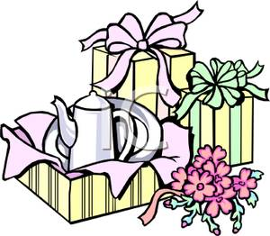 Wedding gift pile clipart clip download A Pile Of Wedding Gifts Partially Opened - Royalty Free ... clip download