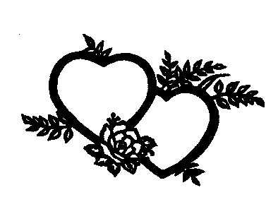 Wedding heart design clipart clip black and white Free Wedding Heart, Download Free Clip Art, Free Clip Art on ... clip black and white