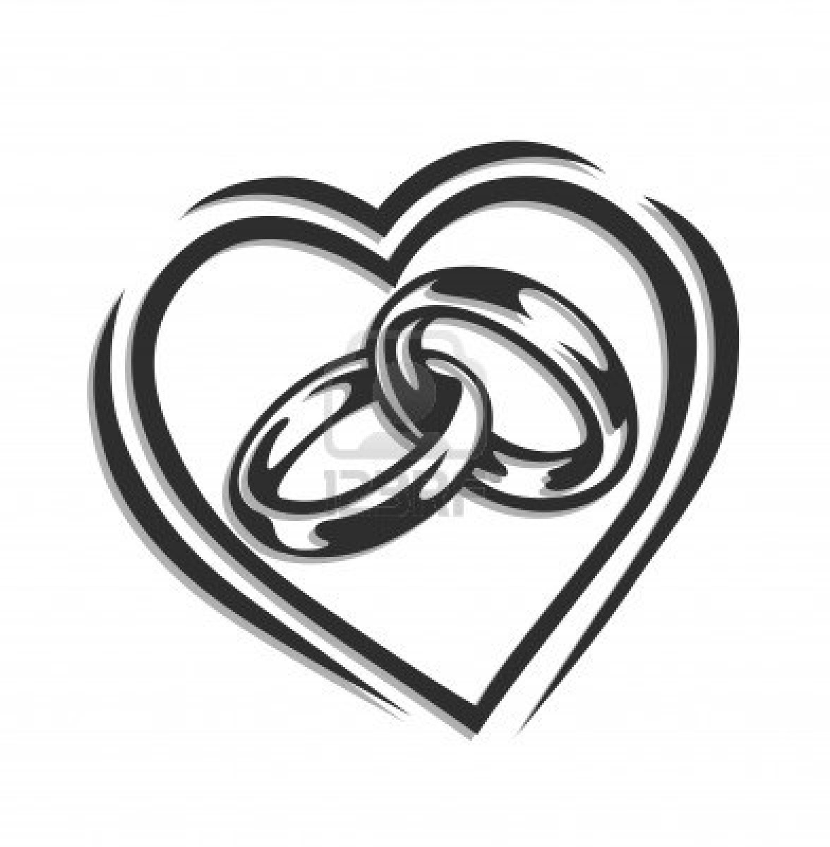 Wedding hearts clipart black and white clipart download Wedding Heart Clipart - Clipart Kid clipart download