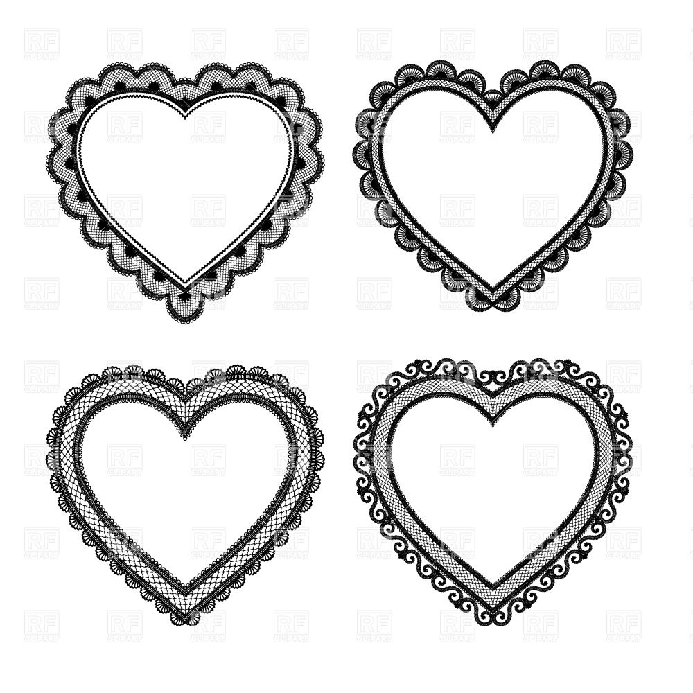 Wedding hearts clipart black and white clip art transparent download Wedding heart clipart black and white - ClipartFest clip art transparent download