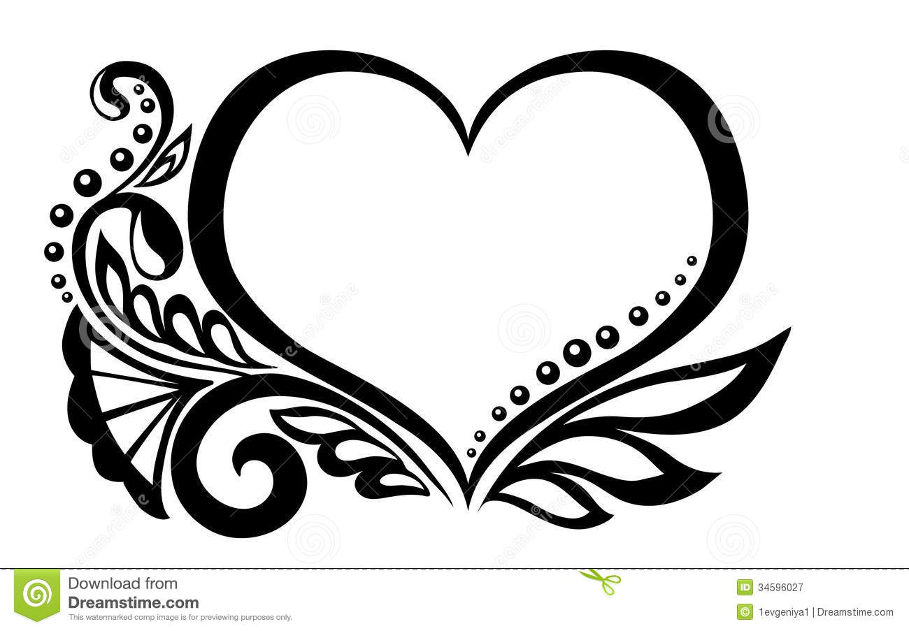 Wedding hearts clipart black and white clip art free Wedding heart design clipart - ClipartFest clip art free