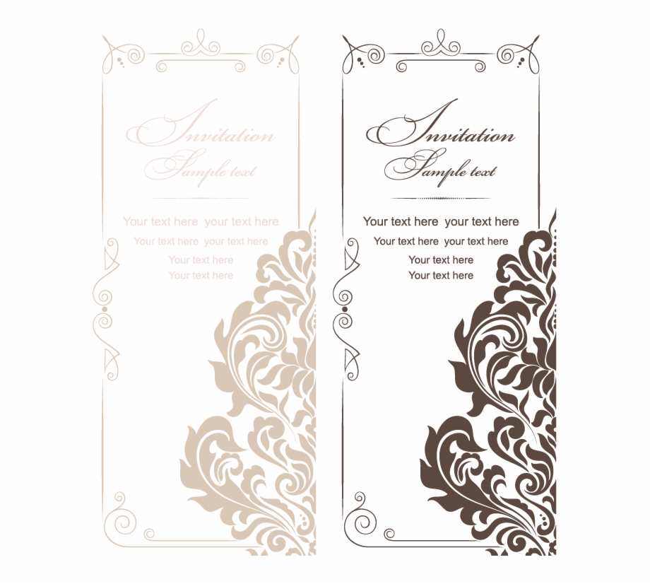 Wedding invitation card design clipart png freeuse And Style Vintage Wedding Invitations American Vector ... png freeuse