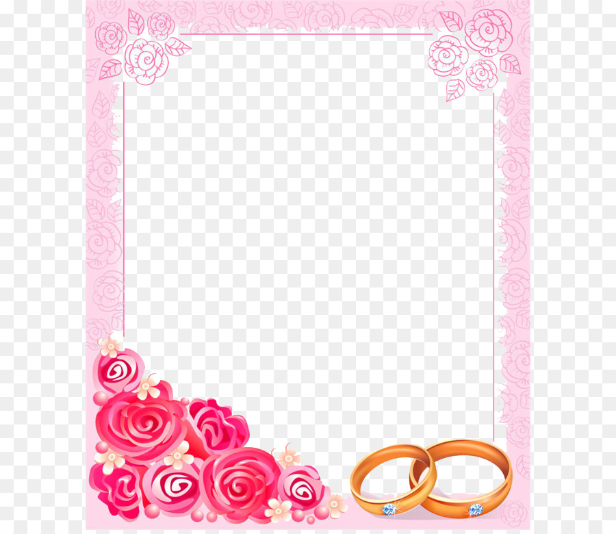 Wedding invitation frame clipart clip download Wedding Invitation Frame png download - 650*774 - Free ... clip download
