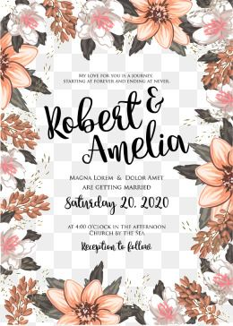 Wedding invitation vector clipart picture library download 2019 的 Vector Flowers Invitations, Invitation, Invitations ... picture library download