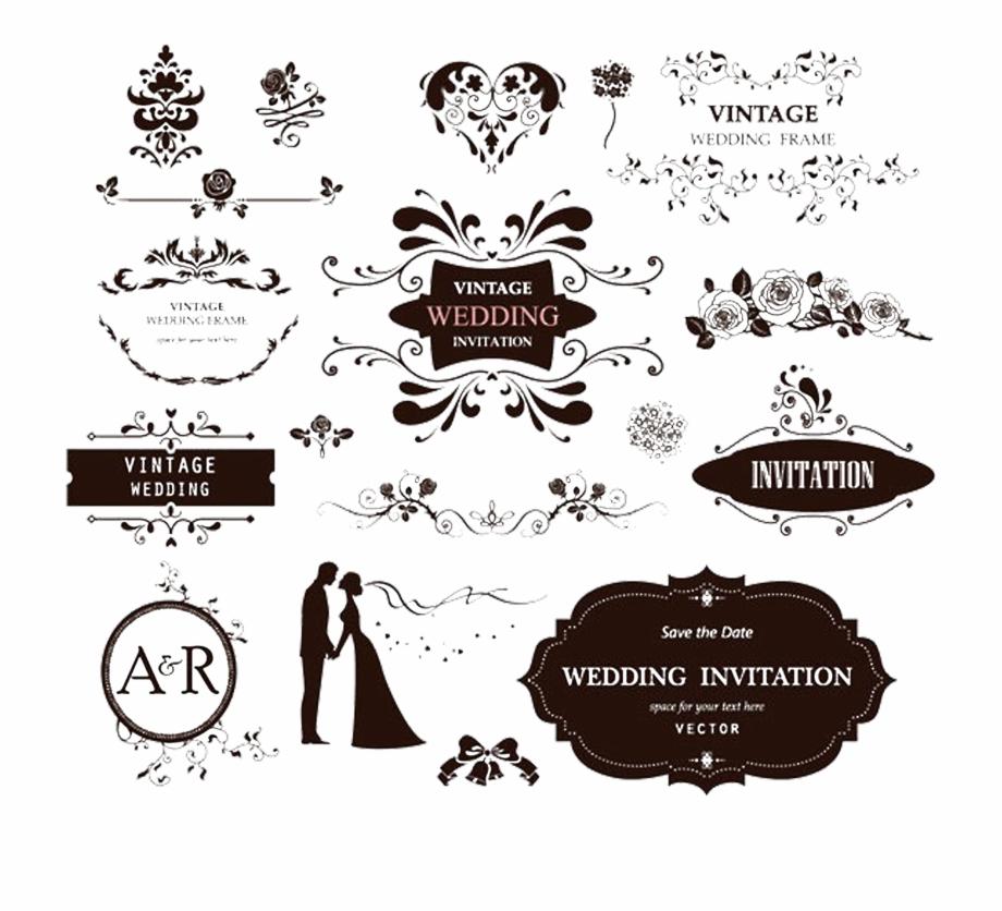 Wedding invitation vector clipart jpg transparent download Image Stock Invitation Vector Style - Vector Logo Wedding ... jpg transparent download
