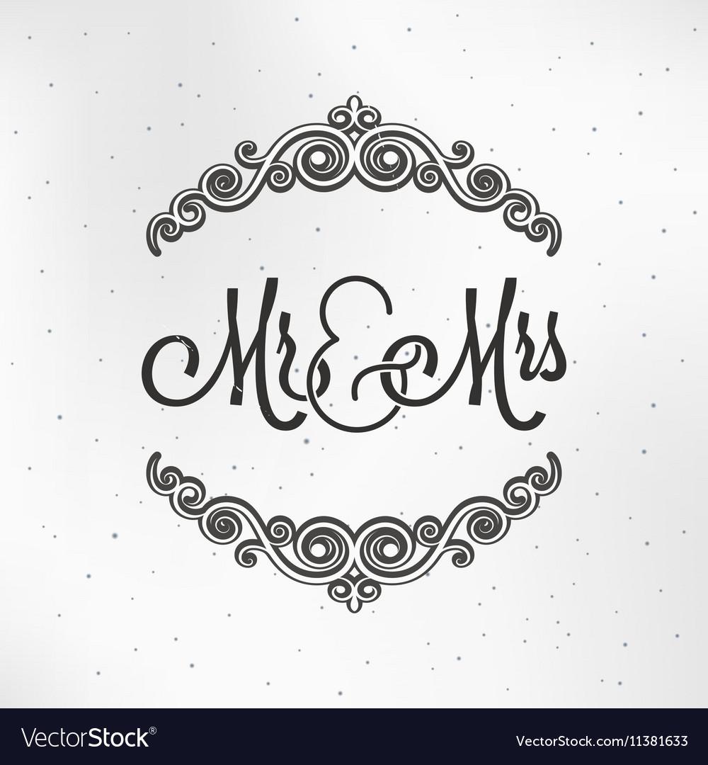 Wedding logo vector clipart banner transparent library Mister and Miss Wedding Logo Design Background banner transparent library