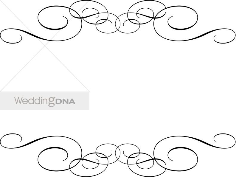 Wedding menu clipart jpg freeuse Traditional Flourish Clipart | Wedding Accents jpg freeuse