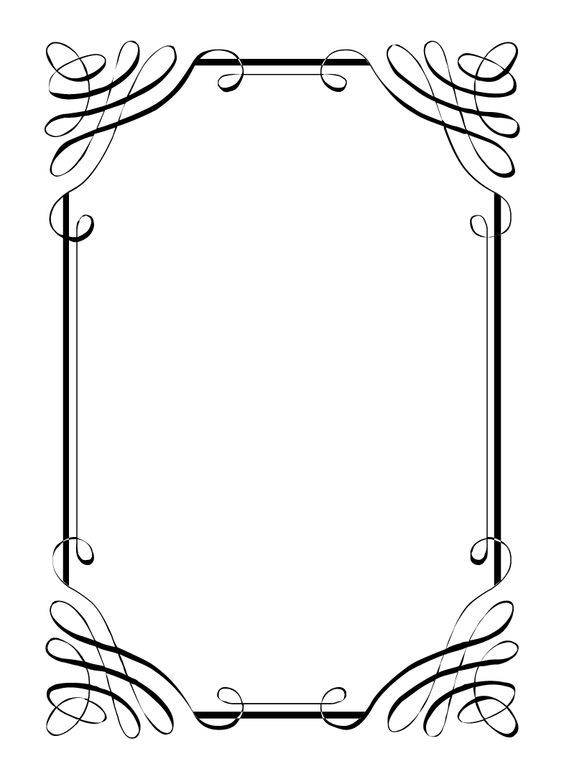 Wedding menu clipart free vector free download Free vintage clip art images: Calligraphic frames and ... vector free download