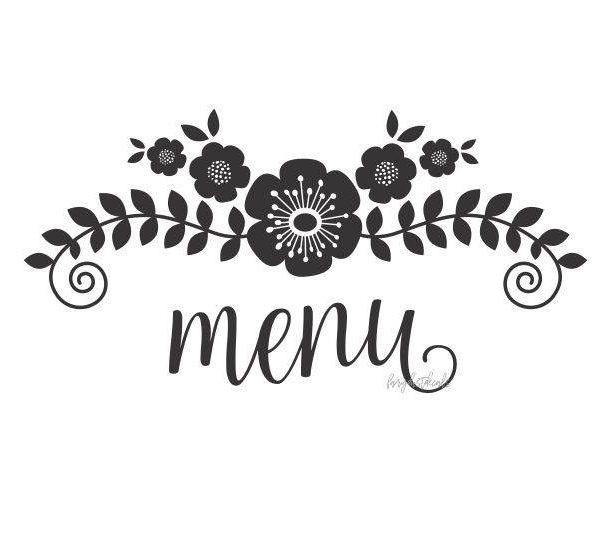 Wedding menu clipart vector download Wedding Menu Clip Art | Chart and Printable World vector download